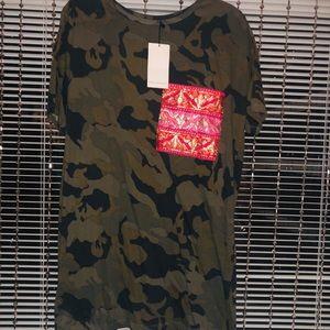 Z A R A Camouflage TShirt Dress SzM NWT